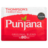 Thompson's Family Teas Punjana Original Blend 80 Tea Bags 250g