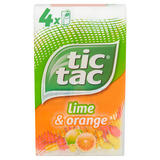 Tic Tac Lime and Orange Multipack 64g (4 pack)