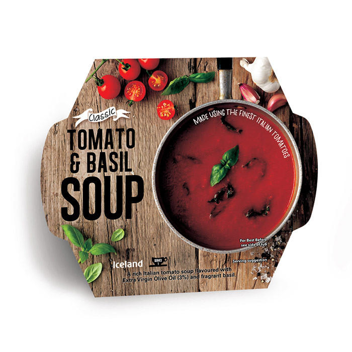 Iceland Tomato and Basil Soup