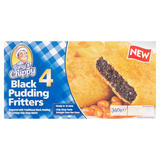 Tony's Chippy 4 Black Pudding Fritters 340g