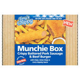 Tony's Chippy Crispy Battered Pork Sausage & Beef Burger Munchie Box 430g