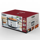 Tower 6.5L Stainless Steel Slow Cooker