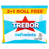 Trebor Softmints Spearmint 3+1 Free Rolls 179.6g