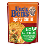 Uncle Bens Spicy Chilli Microwave Rice 250g