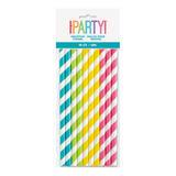 Unique Multicolour Paper Straws 10 pack