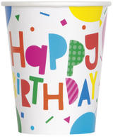 Unique Party Balloon Paper Cups 8 pack
