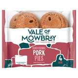 Vale of Mowbray 4 Mini Traditional Pork Pies