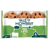 Vale of Mowbray 6 Mini Pork & Apple Pies