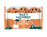 Vale of Mowbray 6 Mini Pork, Cheese and Pickle Pies