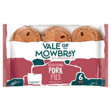 Vale of Mowbray 6 Mini Traditional Pork Pies