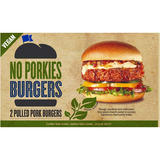 Vegan No Porkies Burgers 2 Pulled Pork Burgers 226g