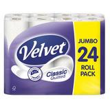 Velvet Classic Quilted 24 Toilet Rolls