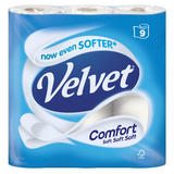 Velvet Comfort 9 Toilet Rolls