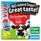 VIVA Strawberry Milk Drink No Added Sugar 200ml