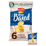 Walkers Baked Cheese & Onion Snacks 6x25g