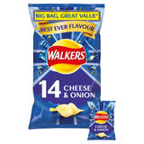 Walkers Cheese & Onion Crisps 14x25g