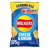 Walkers Cheese & Onion Sharing Crisps 175g