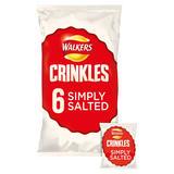 Walkers Crinkles Simply Salted Multipack Crisps 6x23g