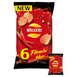 Walkers Flamin Hot Multipack Crisps 6x25g