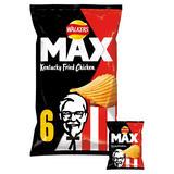 Walkers Max KFC Kentucky Fried Chicken Multipack Crisps 6x27g