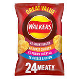 Walkers Meaty Variety Multipack Crisps 24 x 25g