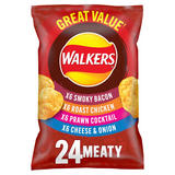 Walkers Meaty Variety Multipack Crisps 24x25g