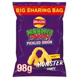 Walkers Monster Munch Pickled Onion Sharing Snacks 98g