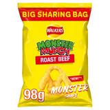 Walkers Monster Munch Roast Beef Sharing Snacks 98g