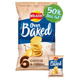 Walkers Oven Baked Cheese & Onion Multipack Snacks 6x25g