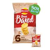 Walkers Oven Baked Sea Salt Multipack Snacks 6x25g