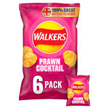 Walkers Prawn Cocktail Multipack Crisps 6x25g