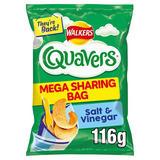 Walkers Quavers Salt & Vinegar Sharing Snacks 116g