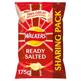 Walkers Ready Salted Crisps 175g
