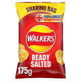 Walkers Ready Salted Sharing Crisps 175g