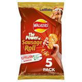 Walkers Sausage Roll Flavour Crisps 5x25g