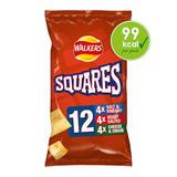 Walkers Squares Variety Multipack Snacks 12x22g