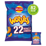 Walkers Wotsits Really Cheesy Multipack Snacks 22x16.5g