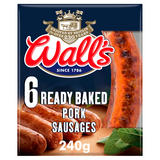 Wall's 6 Ready Baked Pork Sausages 240g