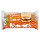 Warburtons 4 Delicious Toasting Muffins