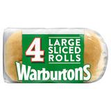 Warburtons 4 Large Sandwich Rolls