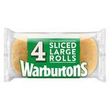 Warburtons 4 Large Sliced Rolls