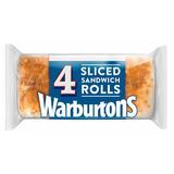 Warburtons 4 Sliced Sandwich Rolls