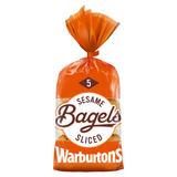 Warburtons 5 Bagels Sesame
