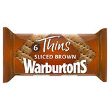 Warburtons 6 Thins Soft Brown Sliced
