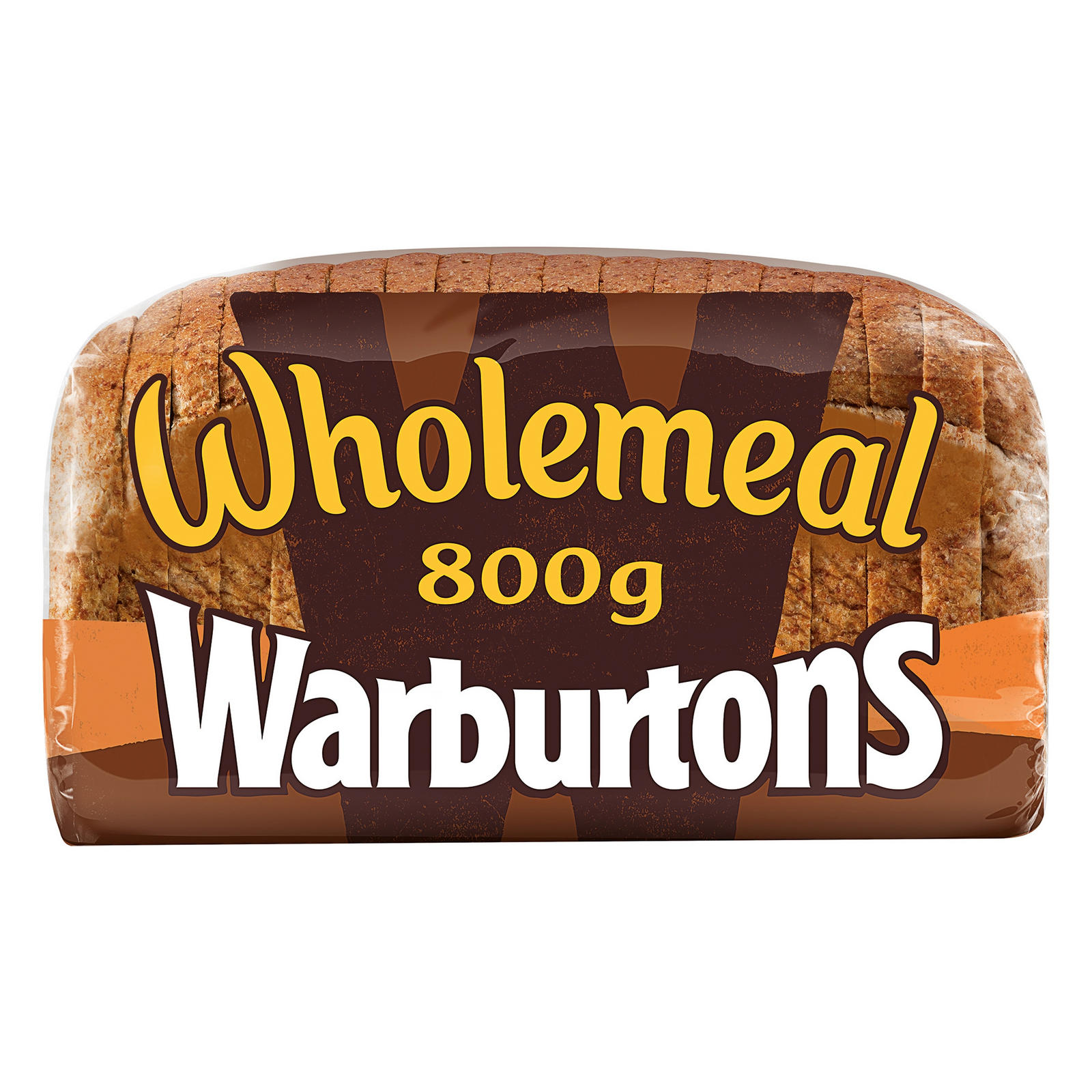 Warburtons 800g Wholemeal Sliced