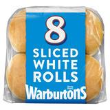 Warburtons 8 Sliced Soft White Rolls
