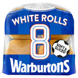 Warburtons 8 Sliced White Rolls