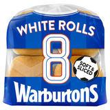 Warburtons 8 White Rolls