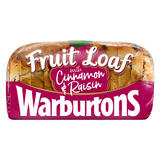 Warburtons Fruit Loaf with Cinnamon and Raisin 400g