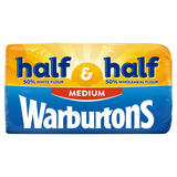 Warburtons Half White Half Wholemeal Medium 800g